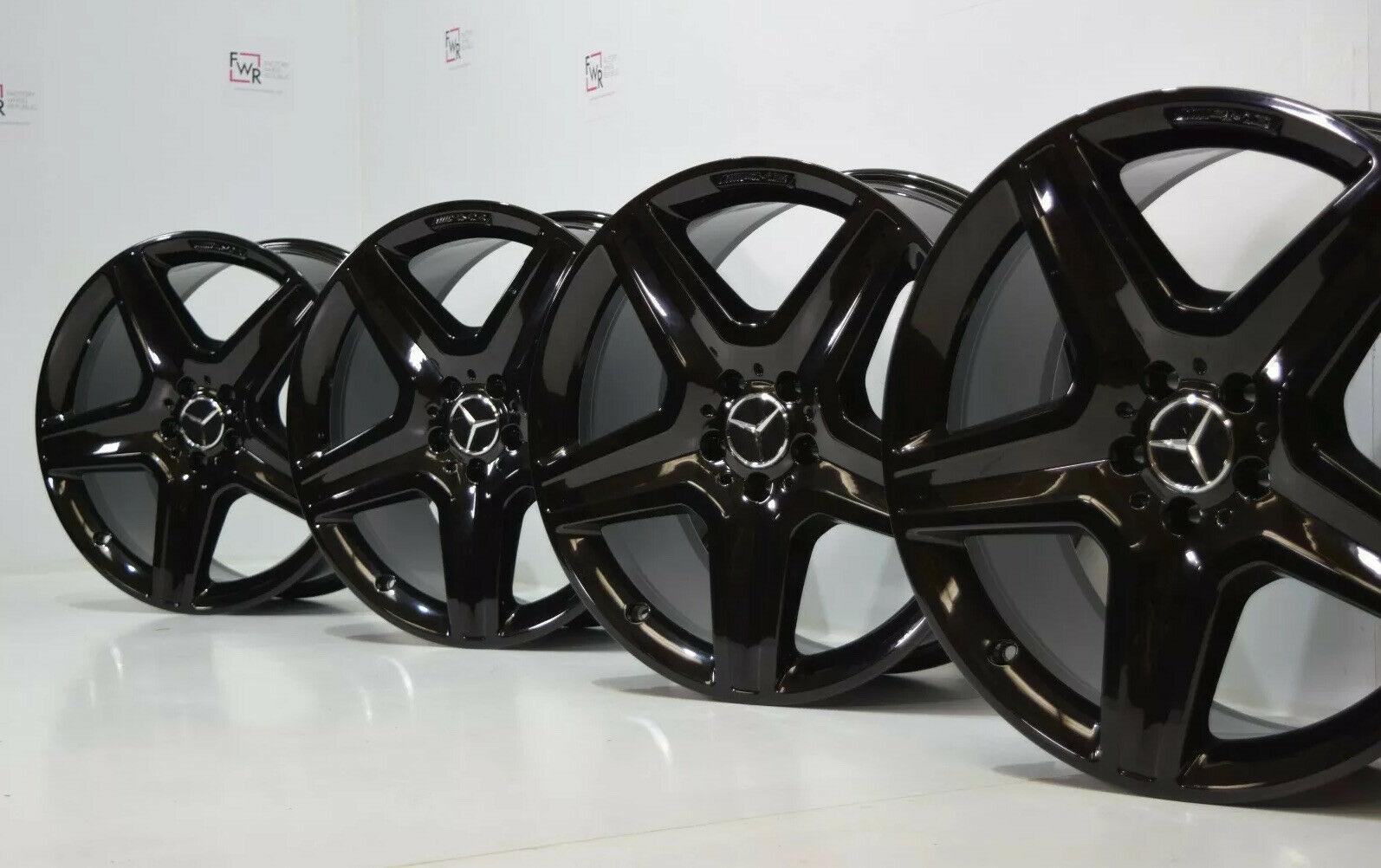 "20"" Mercedes Benz GLE350 GLE400 GLE ML350 Factory OEM AMG wheels Rims Black 20"