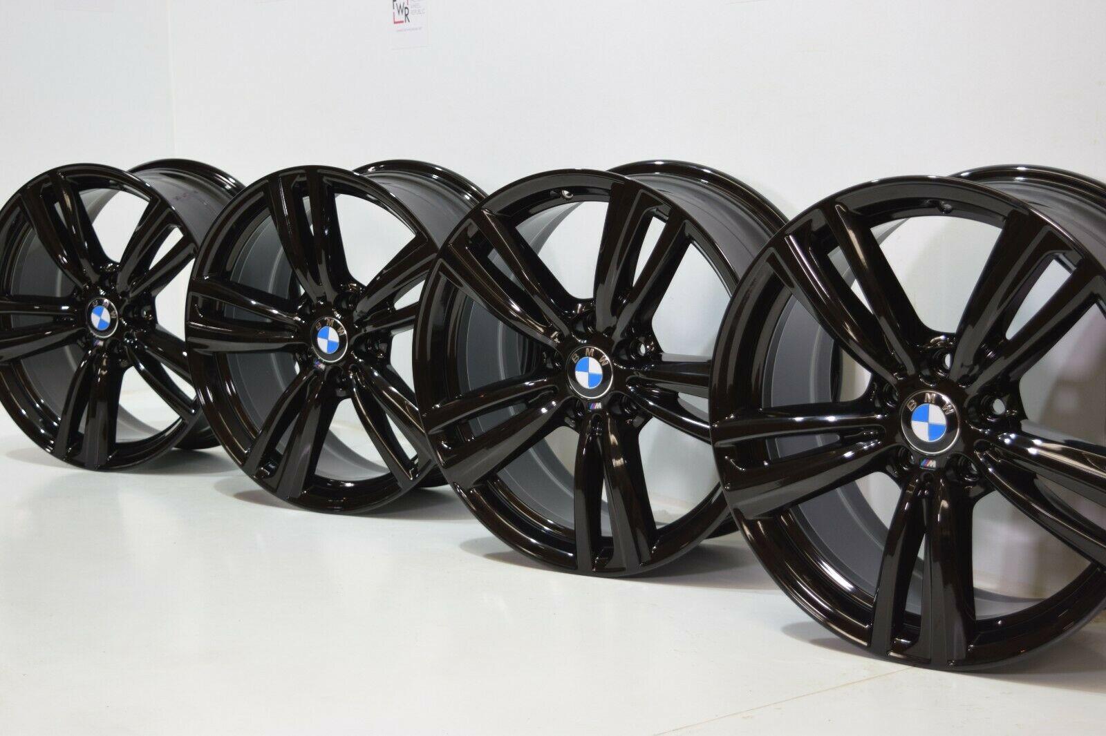 19″ BMW 335i 435i F32 4 3 Series F30 OEM M Sport 442 RIMS Factory Black