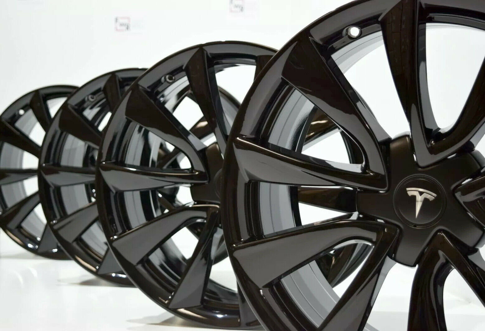 19″ TESLA MODEL 3 FACTORY OEM ORIGINAL GLOSS BLACK RIMS