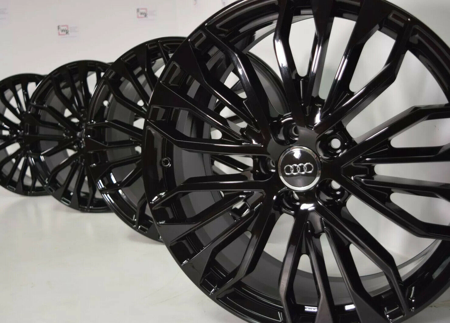 20″ AUDI S6 A6 Factory OEM original Wheels Rims 20 4G0-601-025 Black