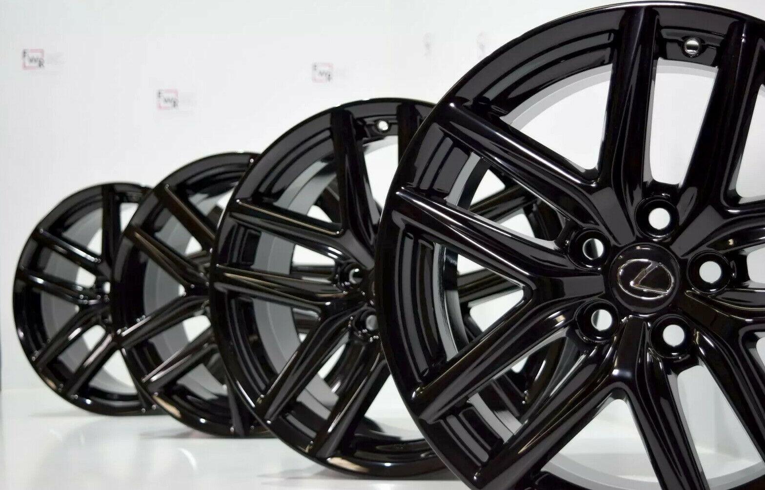 18″ LEXUS IS250 IS F Sport black Factory OEM 18 inch WHEELS RIMS 74292 74293