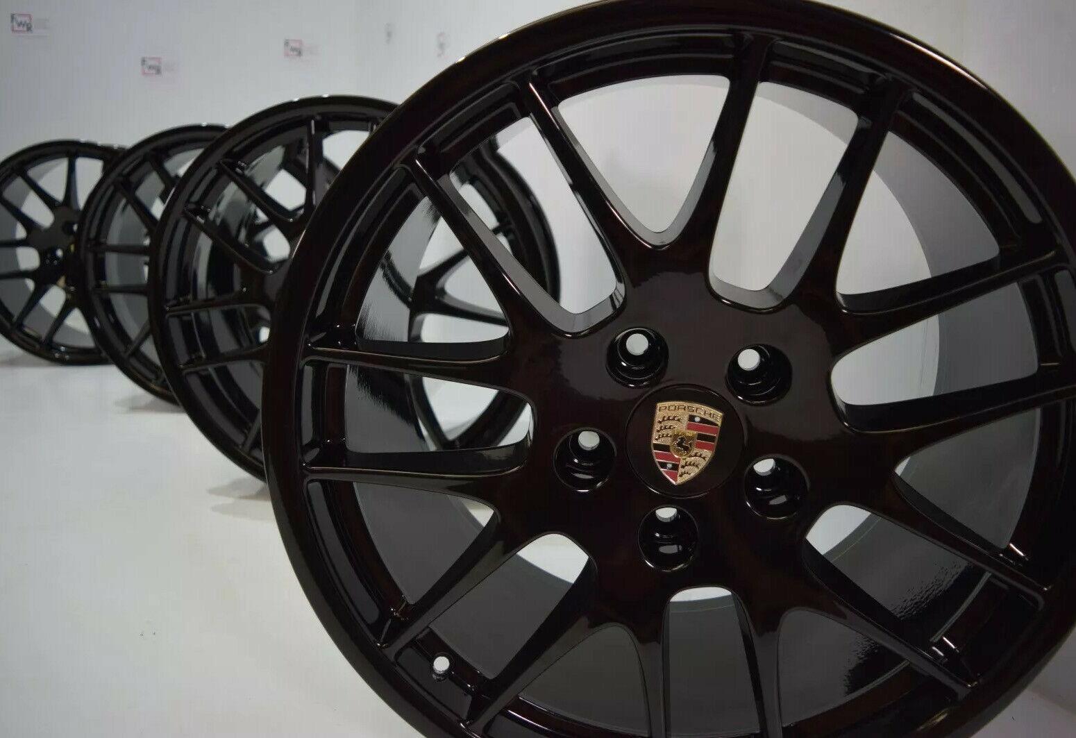 20″ Porsche Panamera RS Factory 20 Wheels OEM Rims 67390 67393 BLACK FINISH