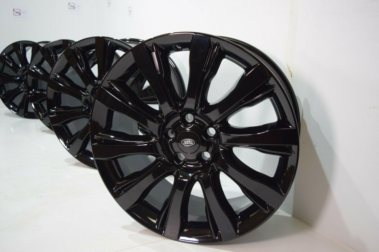 Black 21″ Range Rover Land Supercharged 2014-2019 rims wheels Factory OEM 21