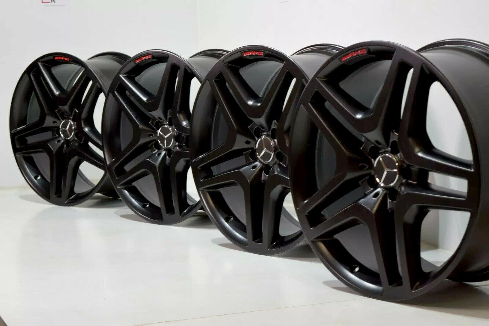 21″ MERCEDES BENZ GLS GLS63 GLS550 GL550 GL63 AMG Factory OEM WHEELS RIMS BLACK