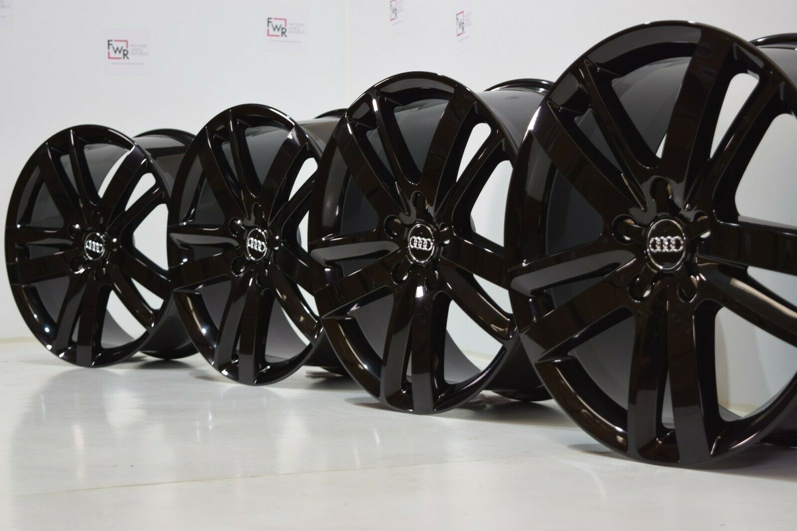 "Audi Q7 2007- 2015 20"" Factory OEM Wheels Black Rims 4L0601025BM 58862 20"