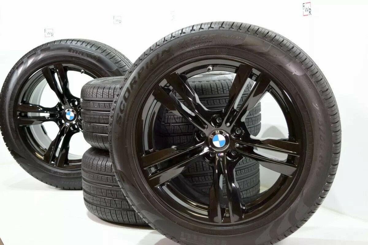 "19"" BMW X5 2014 2015 2016 2017 2018 Factory OEM Wheels Rims tires black 86043"