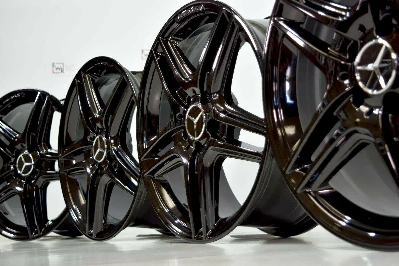 BENZ Mercedes C350 C300 C250 BLACK 18 AMG OEM WHEELS RIMS FACTORY 18×8 18×8.5