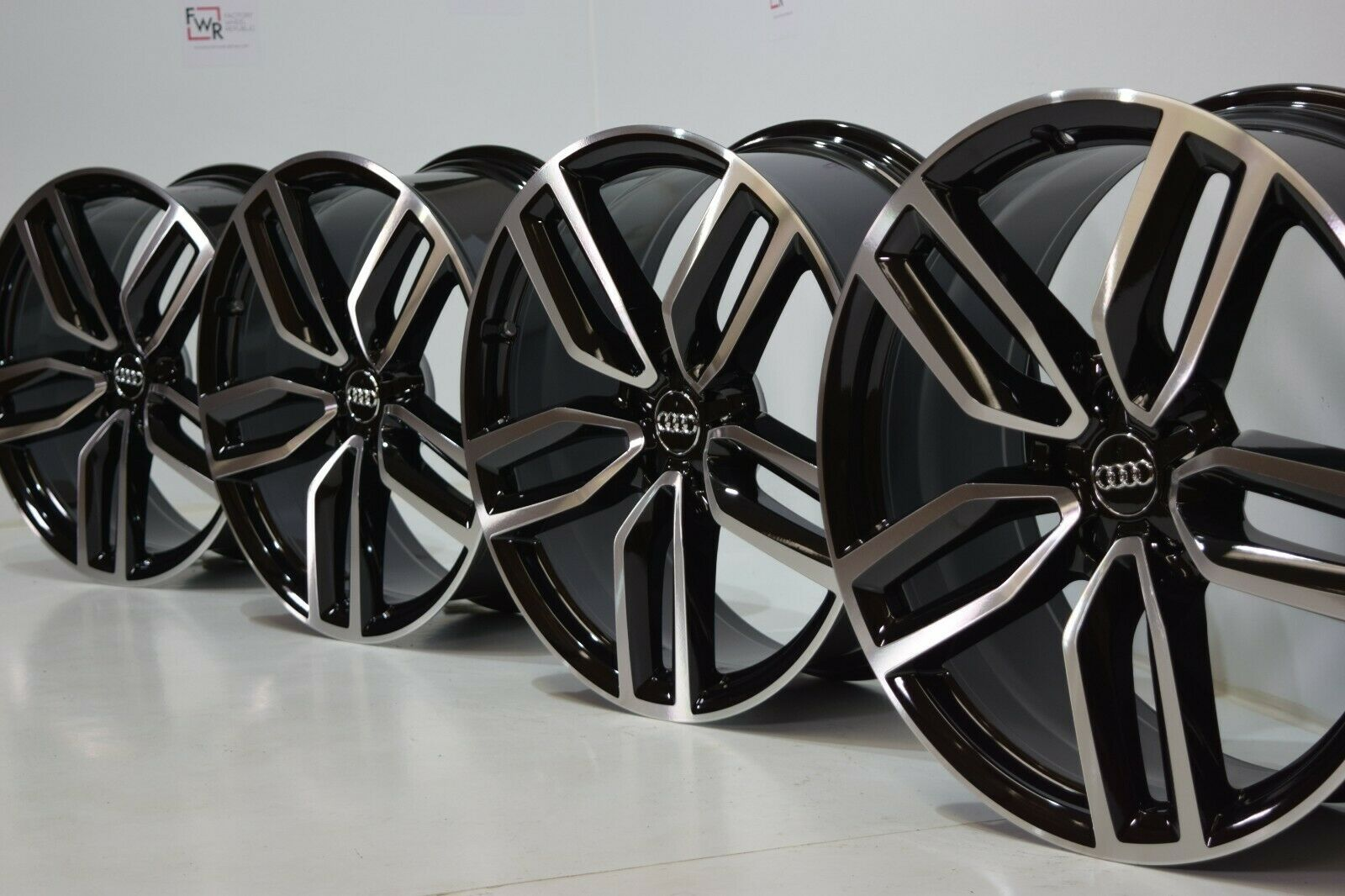 21″ AUDI SQ5 Q5 FACTORY OEM WHEELS RIMS ORIGINAL S6 A7 S7 20 A8 S8 BLACK