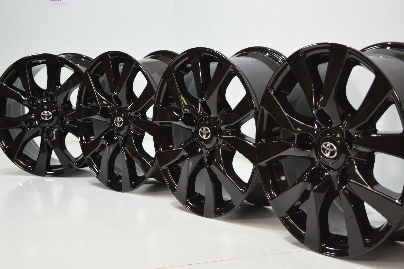 18″ Toyota Land Cruiser BLACK Factory OEM ORIGINAL WHEELS RIMS 75195