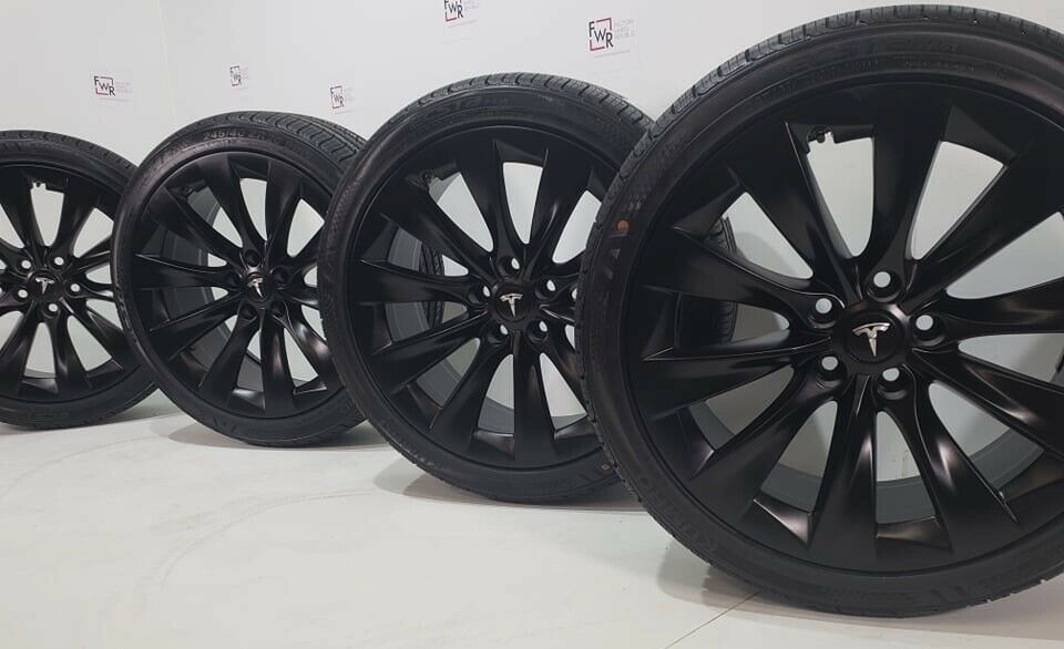 20″ TESLA MODEL S P100 P90D FACTORY 20 WHEELS OEM RIMS TIRES 245/40/20 Black