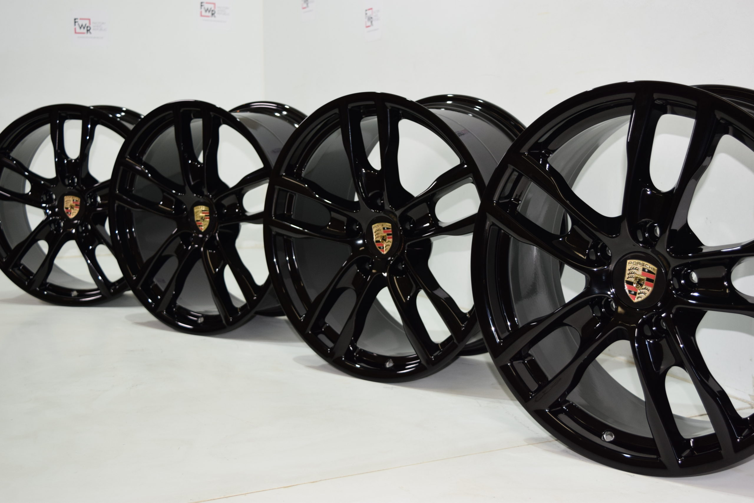 19″ Porsche Boxster Cayman Black Factory OEM wheels