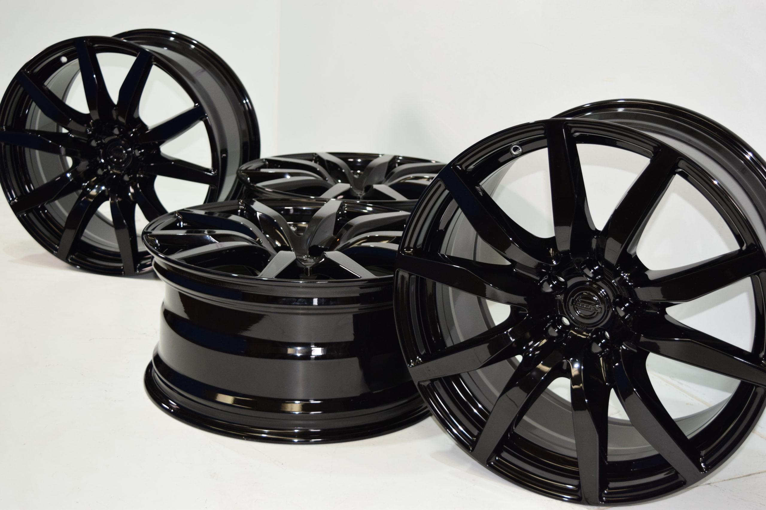 20″ Nissan GTR R35 Premium Wheels RIMS Factory OEM BLACK Rays Engineering