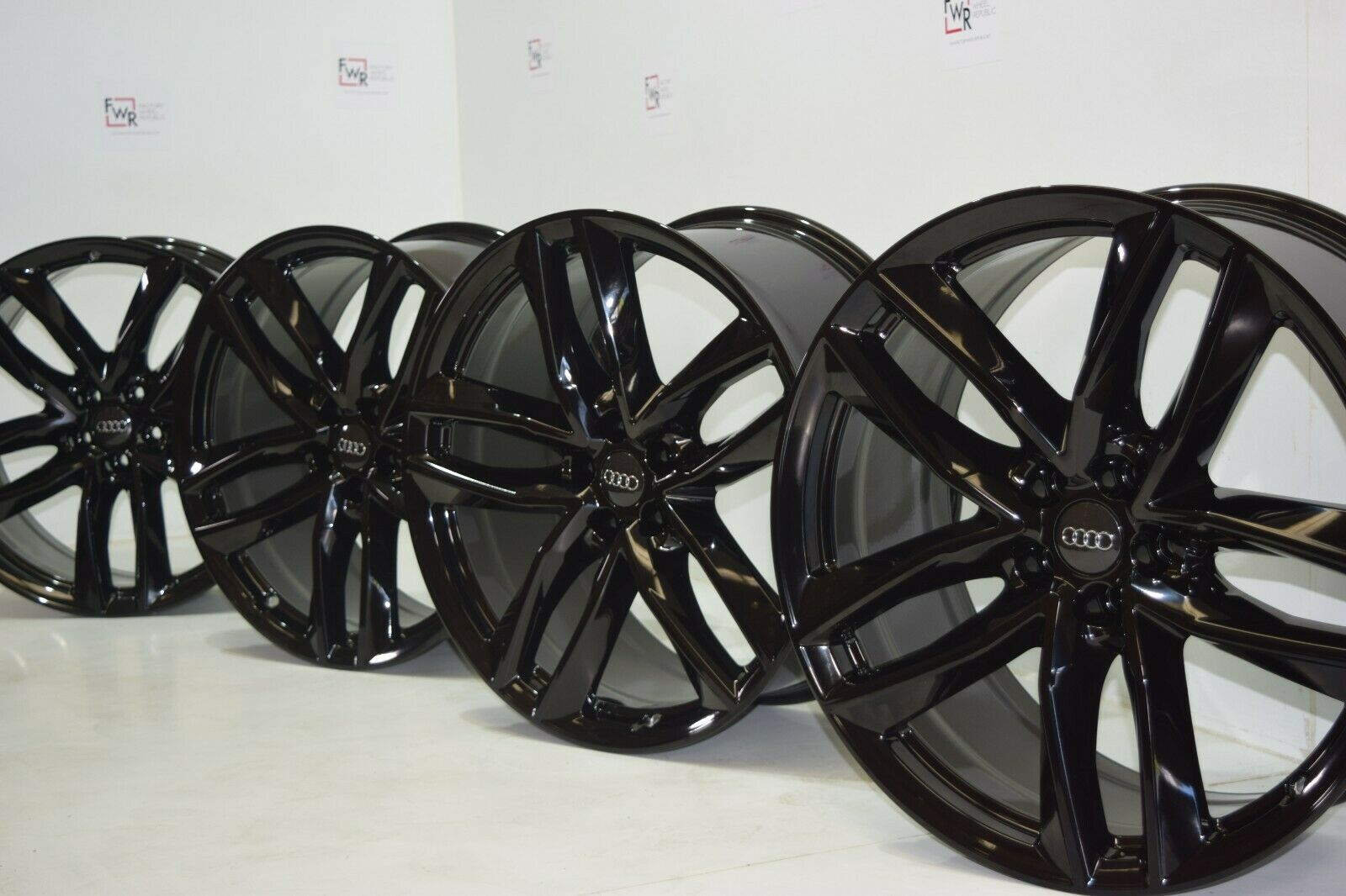 "21"" Audi Q7 Factory OEM wheels rims Black 21 x 9.5 RS7 S8 A8 S8 Genuine 59012"