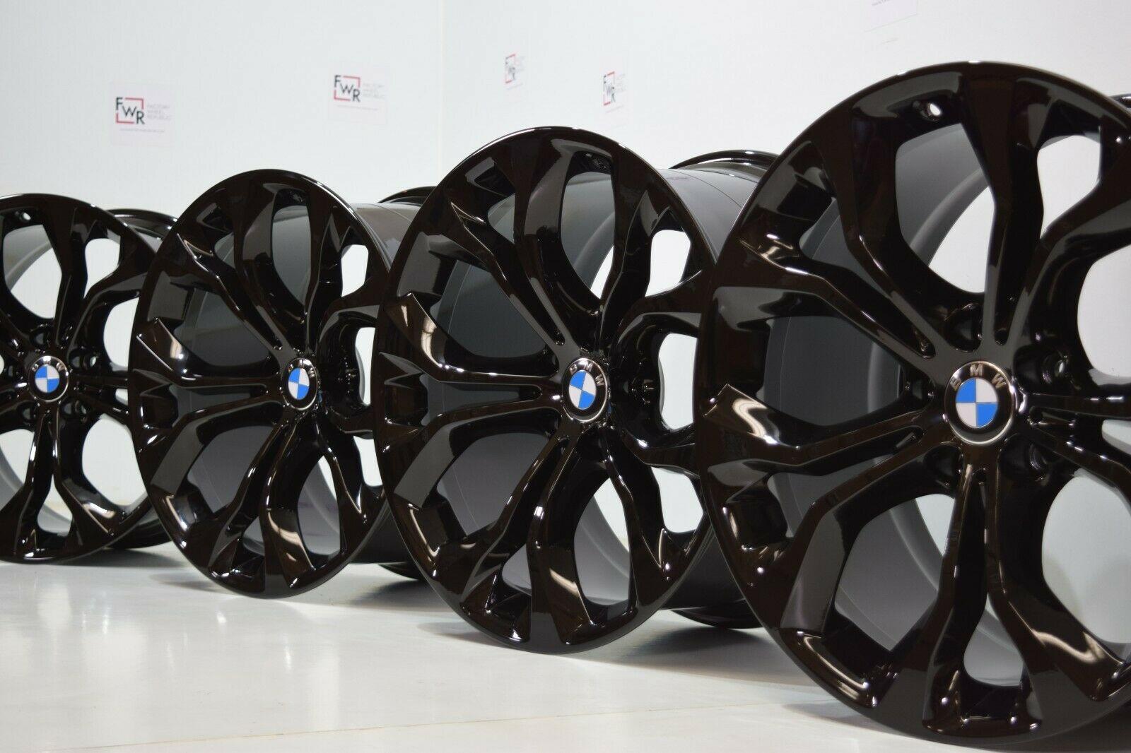 20″ Bmw X5 X6 F15 E70 X71 X72 F16 Original Factory OEM Black Rims Wheels
