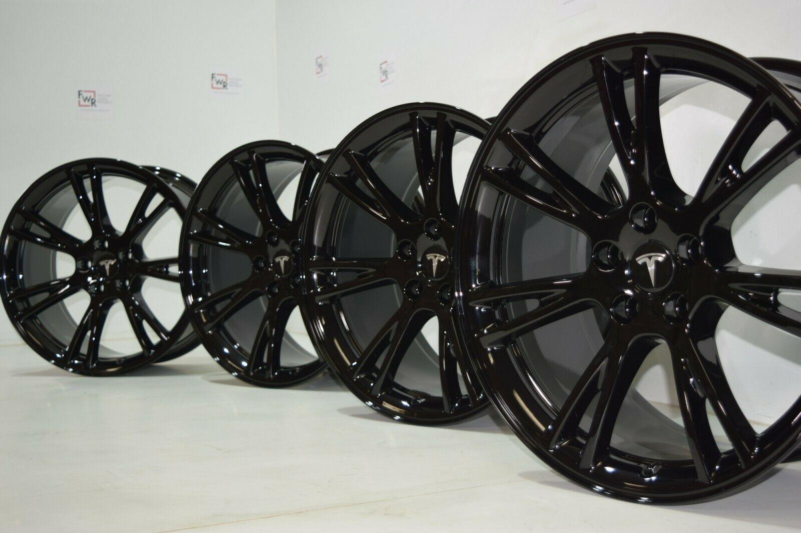 Tesla Model Y 19″ Gemini Wheels RIMS BLACK 2020 Factory OEM GLOSS BLACK