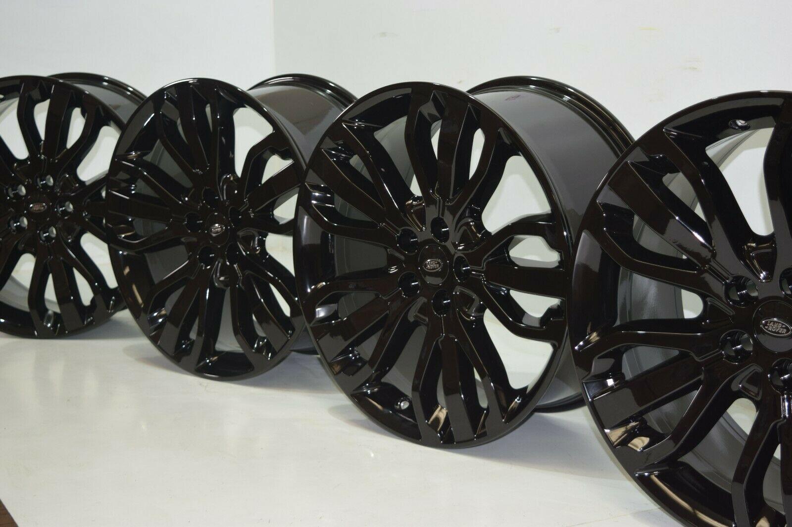 Range Rover 21″ Style 507 In brand new gloss black wheels rims