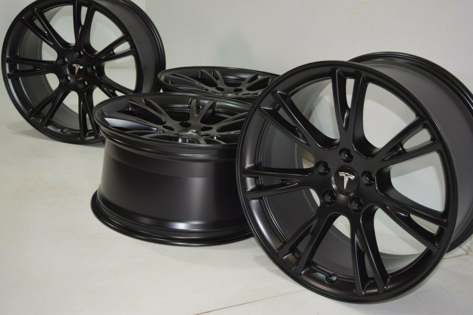 Tesla Model Y 19″ Gemini Wheels RIMS BLACK 2020 Factory OEM SATIN BLACK