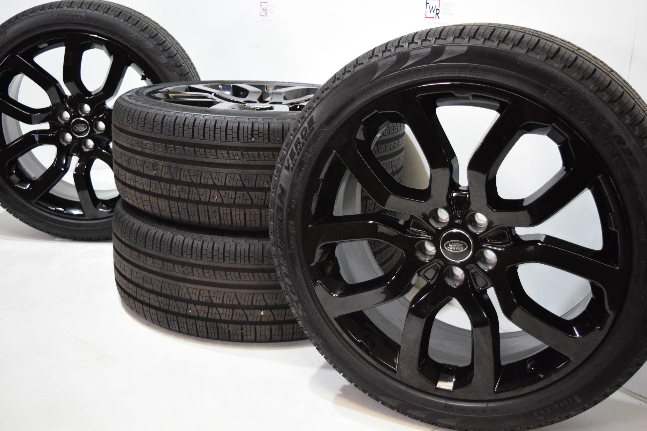 """22"""" Range Rover Sport Full 22 inch WHEELS RIMS FACTORY OEM tires black 72247"""