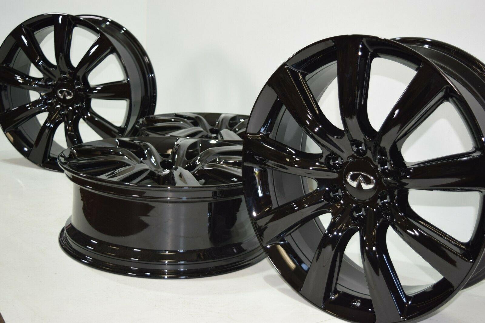 22 Infiniti QX56 QX80 2011-2018 22″ Black RAYS Factory OEM Wheels Rims