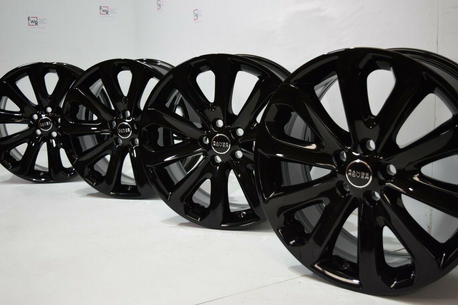 20″ Range Rover full size wheels gloss  Black Factory OEM 72245 LR037745