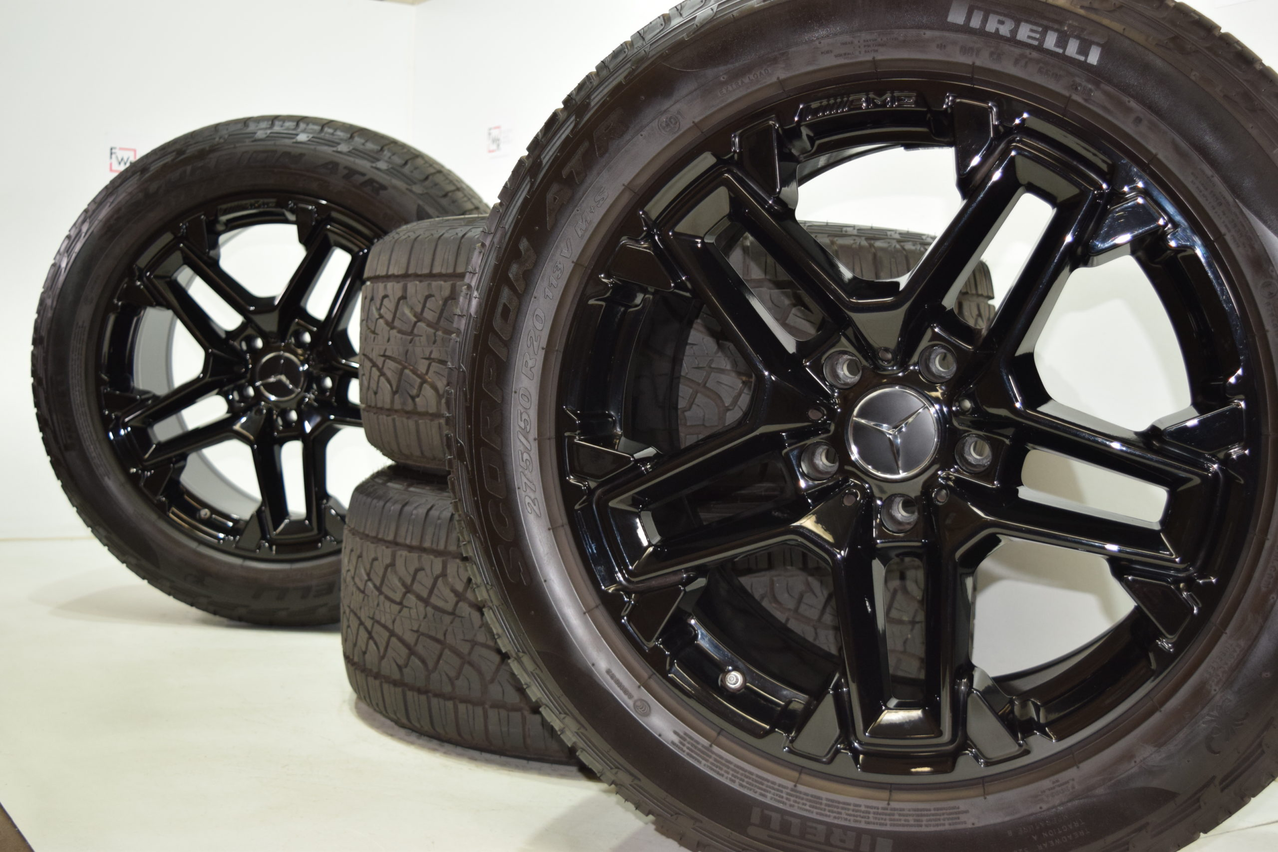 20″ Mercedes G63 G600 G550 G Wagen Factory OEM wheels and tires tires 2019 2020 2021