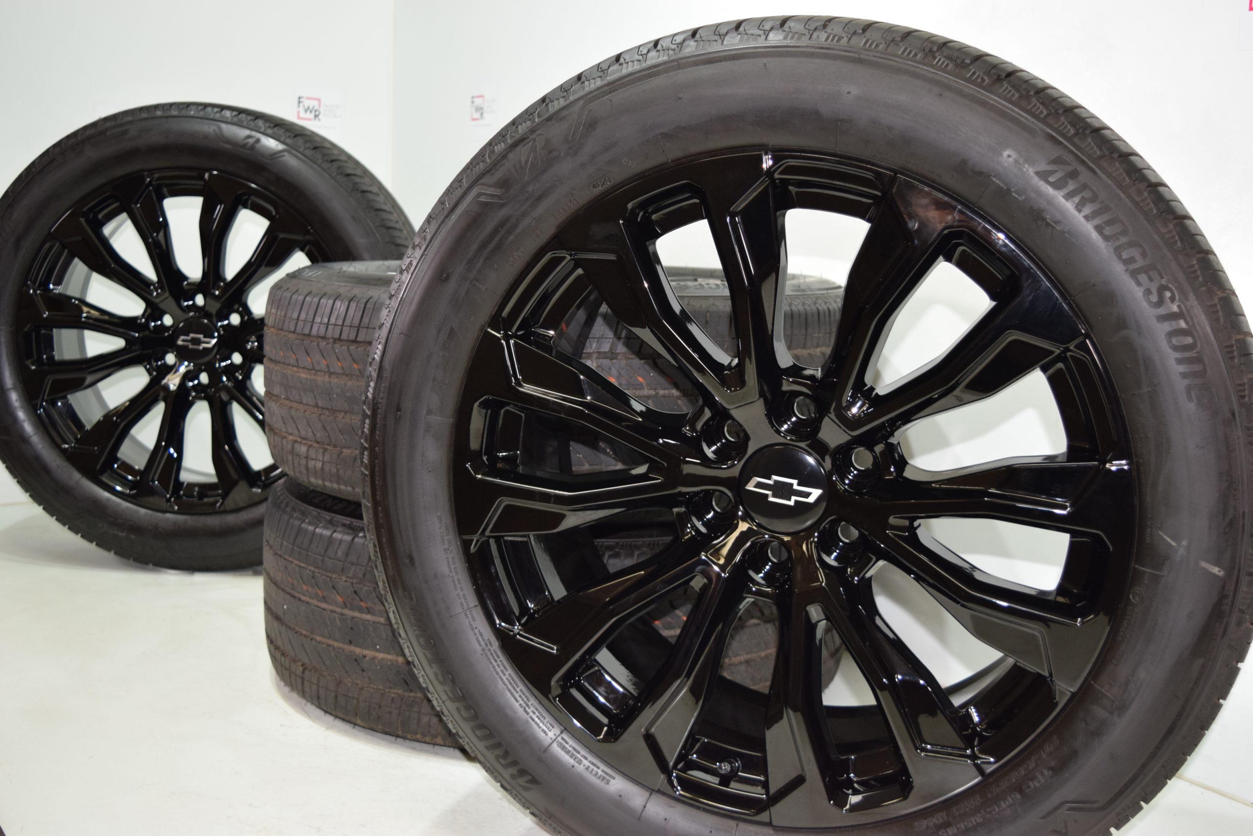 22″ GMC Yukon Sierra DENALI Tahoe Silverado Black Factory OEM wheels 2020 21 22